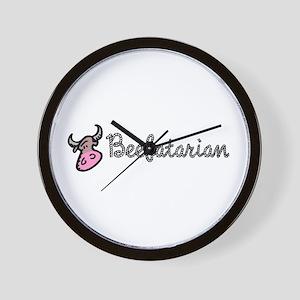 Beefatarian Wall Clock