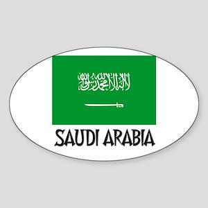Saudi Arabia Flag Oval Sticker
