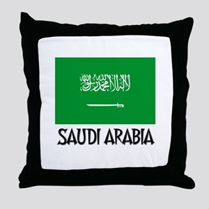 Saudi Arabia Flag Throw Pillow