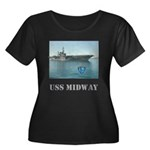 Her Plus Size Scoop Neck Dark USS Midway T-Shirt