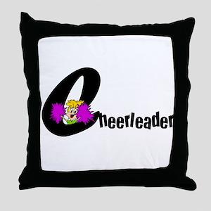 Kids Cheerleader Throw Pillow