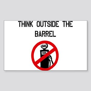 Think Outside The Barrel Rectangle Sticker