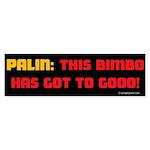 Palin the Bimbo Bumper Sticker