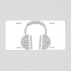 soundtrack languages wordar Aluminum License Plate