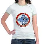 USS ANGLER Jr. Ringer T-Shirt