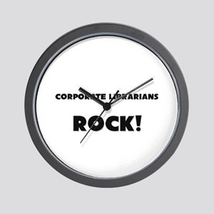 Corporate Librarians ROCK Wall Clock