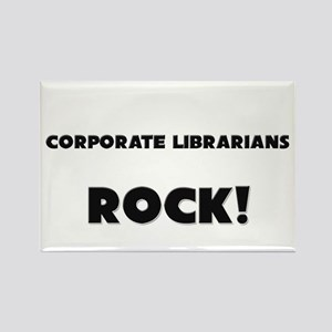 Corporate Librarians ROCK Rectangle Magnet