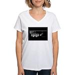Well Hung Women's V-Neck T-Shirt