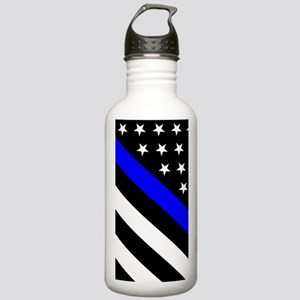 Police Flag: Thin Blue Stainless Water Bottle 1.0L