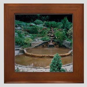 Vesica Pool at Chalice Well - Framed Tile
