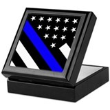 Police Square Keepsake Boxes