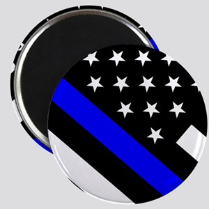 Police Flag: Thin Blue Line Magnet