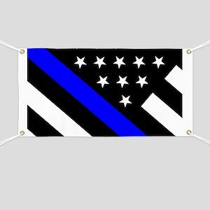Police Flag: Thin Blue Line Banner