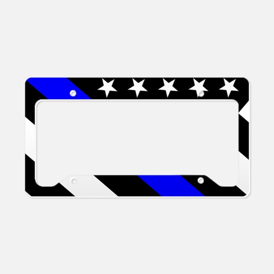 Police Flag: Thin Blue Line License Plate Holder