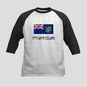 Pitcairn Island Flag Kids Baseball Jersey