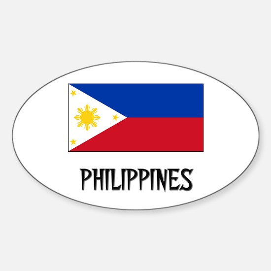 Philippines Flag Oval Decal