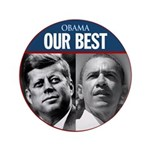 "Obama John F. Kennedy 3.5"" Button"