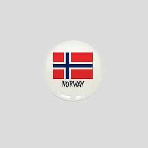 Norway Flag Mini Button