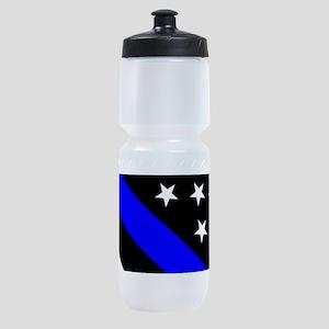Police Flag: Thin Blue Line Sports Bottle