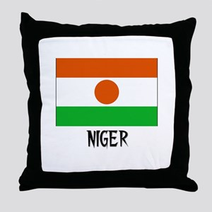 Niger Flag Throw Pillow