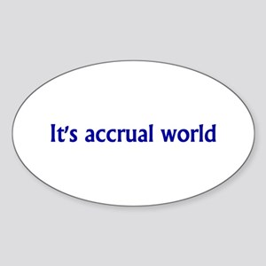 Accountant Oval Sticker (10 pk)
