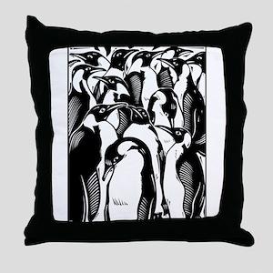 Penquins Throw Pillow