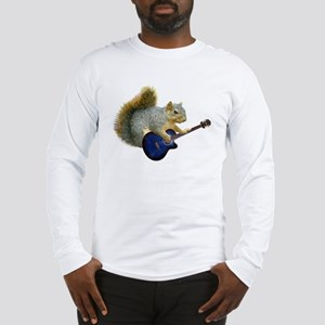 Squirrel with Blue Guitar Long Sleeve T-Shirt