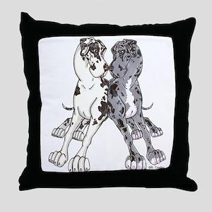 NHNMw Lean Throw Pillow