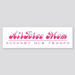 Air Force Mom - Girly Style Bumper Sticker