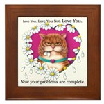 Loves Me Framed Tile