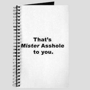 Mister Asshole Journal
