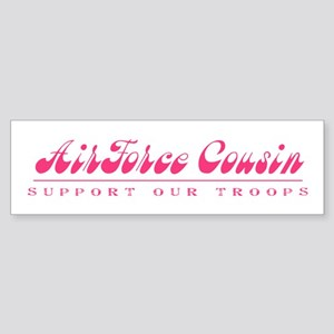 Air Force Cousin - Girly Style Bumper Sticker