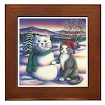 Snowcats Framed Tile