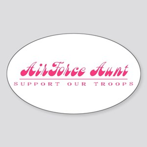 Air Force Aunt - Girly Style Oval Sticker