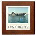 USS Midway Tile Framed