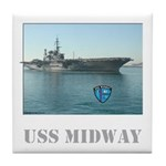 USS Midway Tile Coaster