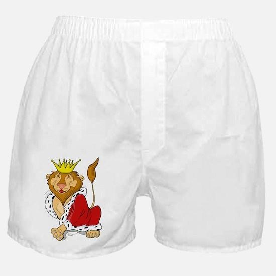King Lion Cartoon Boxer Shorts
