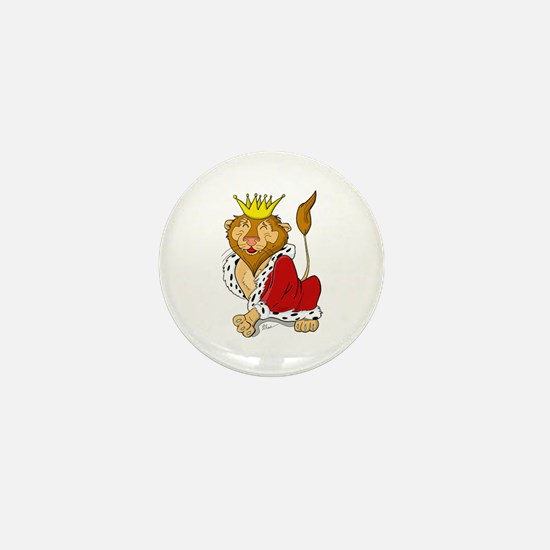 King Lion Cartoon Mini Button