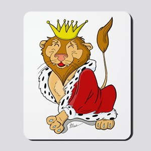King Lion Cartoon Mousepad