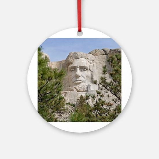 Rushmore Abe Ornament (Round)