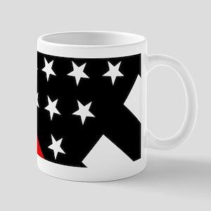 Firefighter Flag: Thin Red Line Mug