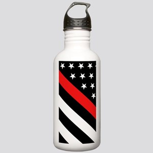 Firefighter Flag: Thin Stainless Water Bottle 1.0L
