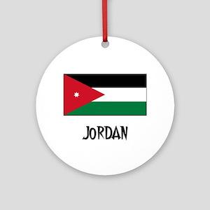 Jordan Flag Ornament (Round)