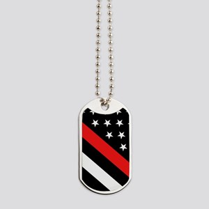 Firefighter Flag: Thin Red Line Dog Tags