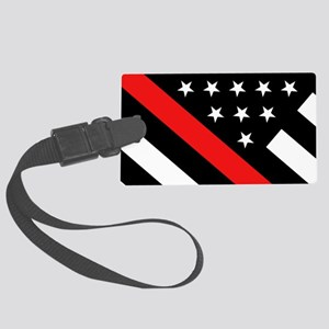 Firefighter Flag: Thin Red Line Large Luggage Tag