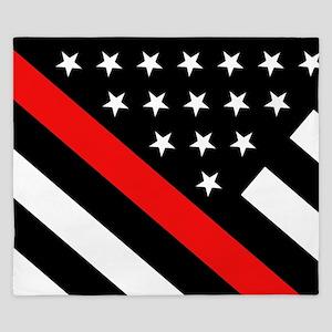 Firefighter Flag: Thin Red Line King Duvet