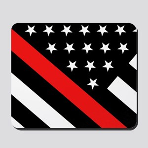 Firefighter Flag: Thin Red Line Mousepad