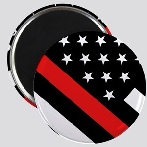 Firefighter Flag: Thin Red Line Magnet
