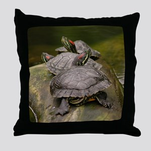 Red-eared slider Turtle -  Throw Pillow