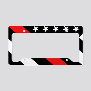 Firefighter Flag: Thin Red Li License Plate Holder